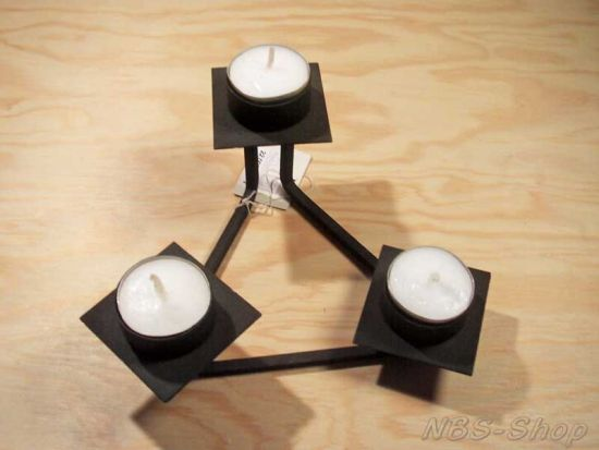 kerzenst nder 3 flammig f r teelichter. Black Bedroom Furniture Sets. Home Design Ideas