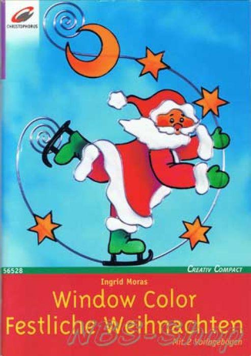 window color festliche weihnachten. Black Bedroom Furniture Sets. Home Design Ideas