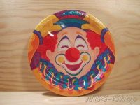 Pappteller Clown 17,8cm